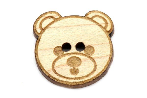 Holzknöpfe Teddy