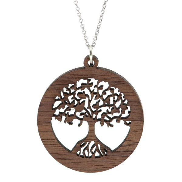 Halskette Baum des Lebens Holzanhänger