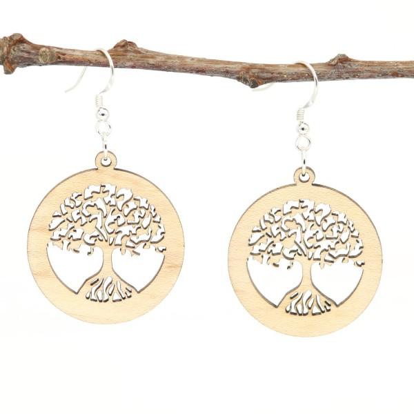 NaturPur Baum des Lebens Holzohrring