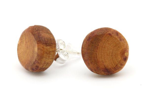 Ohrringe Kreis Pflaumenholz 12mm