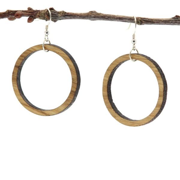 Ohrringe aus Holz Kreis rund Circum Eiche