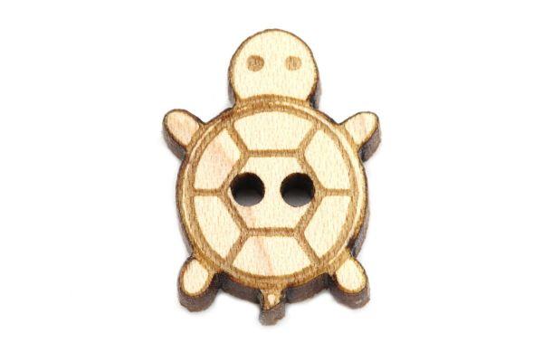 Holzknöpfe Schildkröte