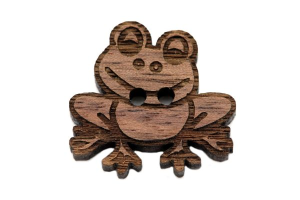 Holzknöpfe Frosch