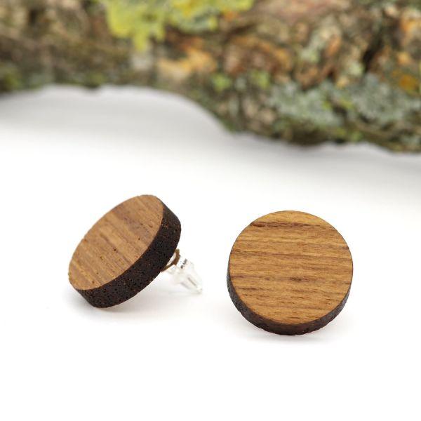 Holzohrringe Teak Exotische Holzarten