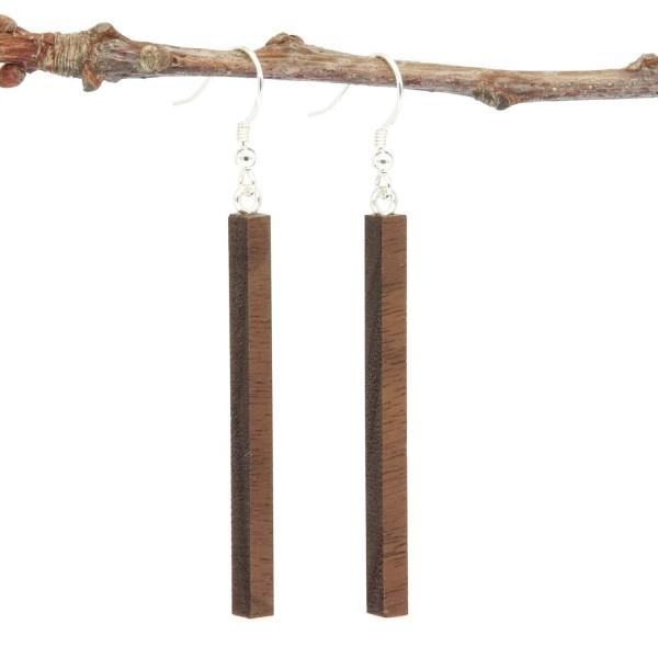 Holzohrring Stabform Ohrhängern lang
