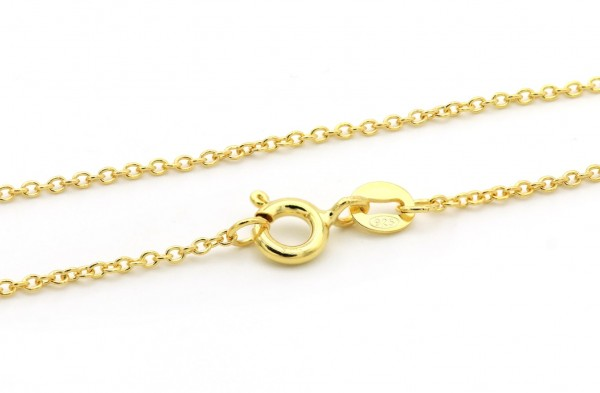 Silberkette Gold 925er Silber 40-80cm