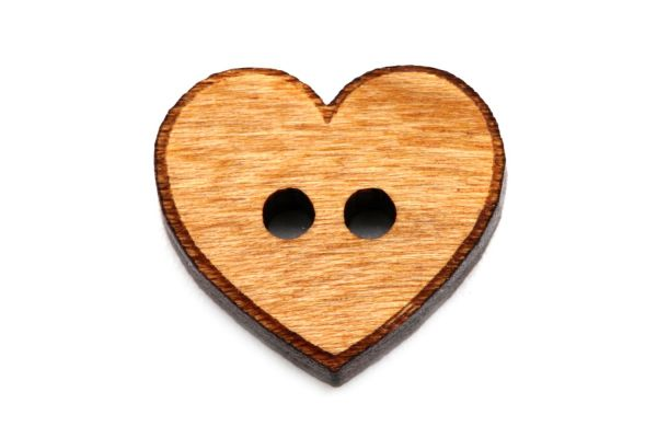 Holzknöpfe Herz Klassik