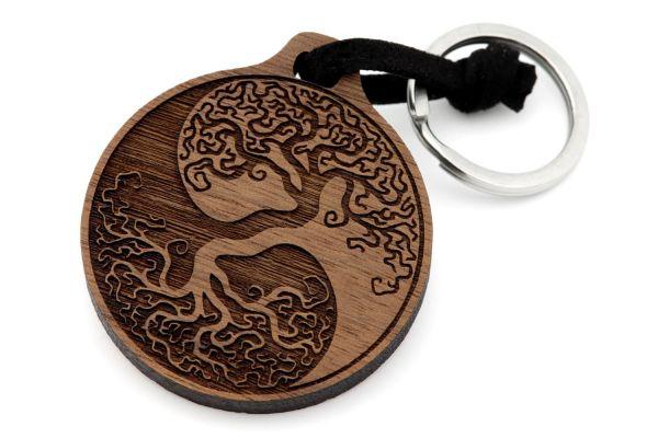 Yin und Yang Lebensbaum Schlüsselanhänger