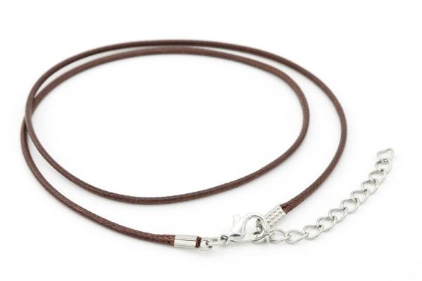 Halskette Kunstleder braun geflochten 45-50cn