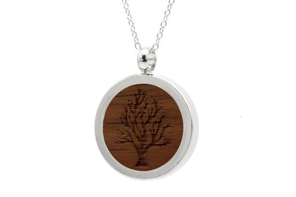 Halskette mit Anhänger Holz Baum des Lebens