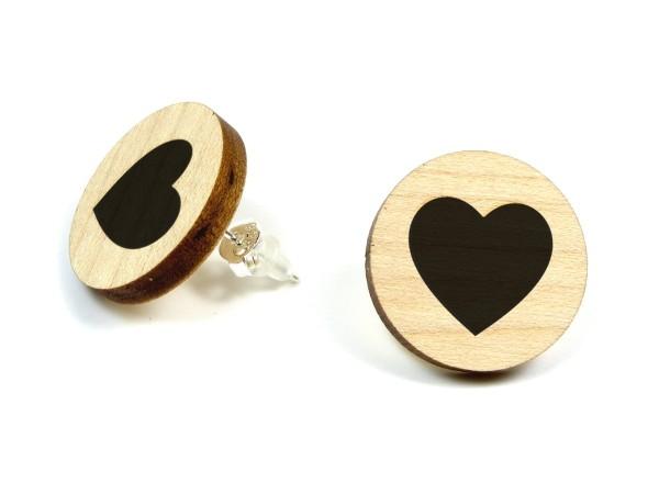 Ohrring mit Herz Gravur
