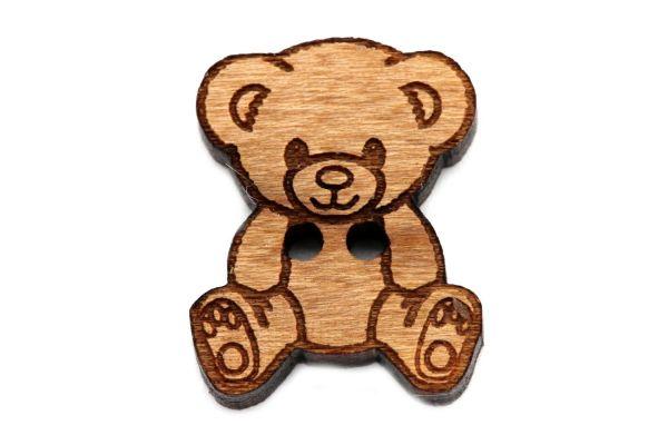 Holzknöpfe Teddybär