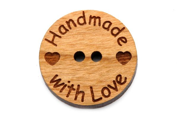Holzknöpfe Handmade with Love