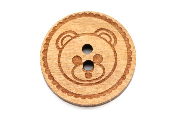 Holzknöpfe Gravur Teddy 12-30mm