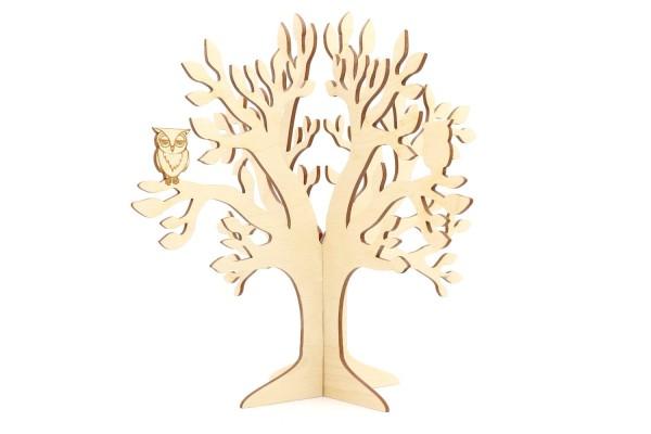 Schmuckbaum mit Eule für Ohrringe, Ketten und Ringe